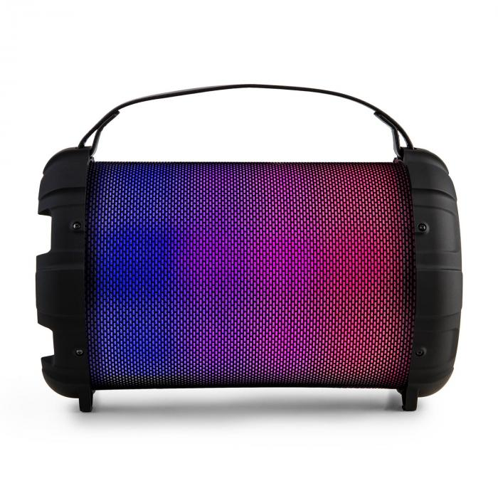 Dr. Bang LED, čierny, 2.1-BT-reproduktor, 20 W, RMS, USB, mikro SD, UKW, AUX, akumulátor, LED