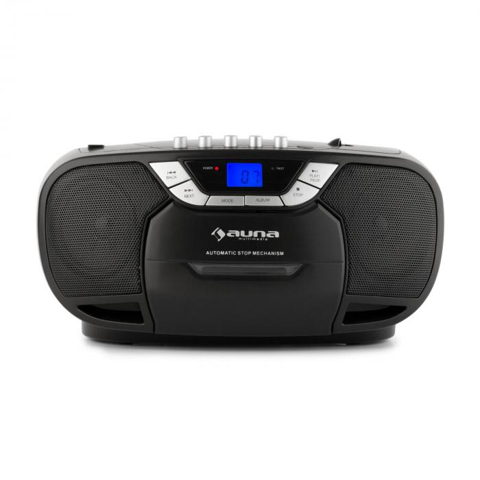 BEEBOY BOOM BOX, CRNI, BOOMBOX, PRIJENOSNI RADIO, CD/MP3 PLAYER, KAZETOFON