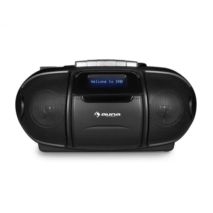 BeeBoy DABBoombox, Ghettoblaster, kasetofon, USB, CD, MP3, crna boja