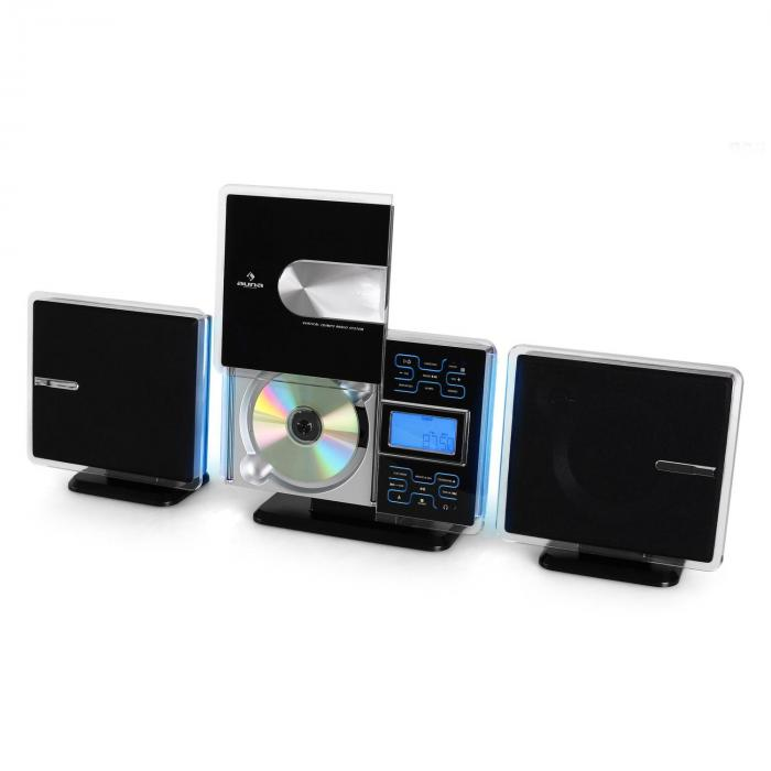 VCP-191 USB STEREO SISTEM MP3 CD SD AUX SREBRNI