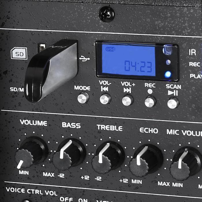 "Port15VHF-BT 38 cm (15""), PA sys.s USB, SD, AUX, MP3,"