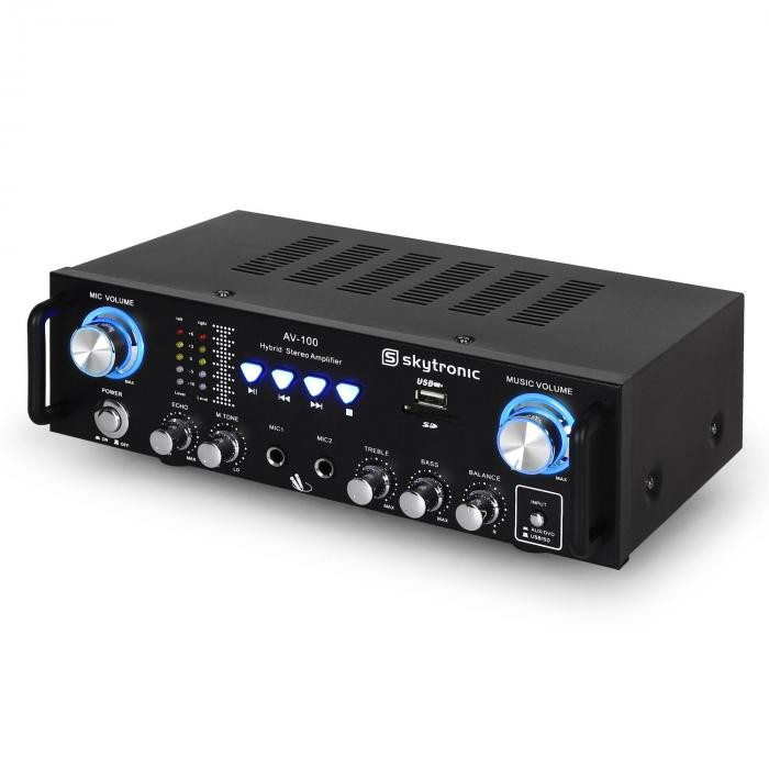 103.208 AV-100amplificator HiFi karaoke SD USB MP3