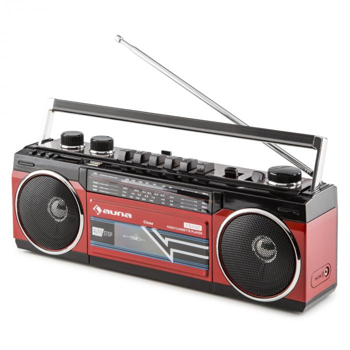 Duke Retro-Boombox, Prenosni magnetofon, USB, SD, Bluetooth, FM Radio
