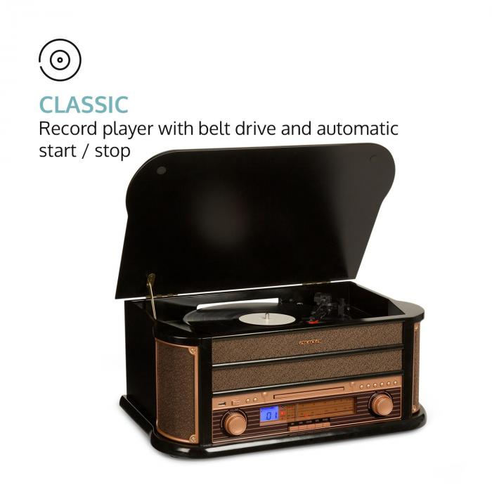 belle epoque 1908 retro stereo sistem gramofon radio usb cd mp3 mikrosistem electronic. Black Bedroom Furniture Sets. Home Design Ideas