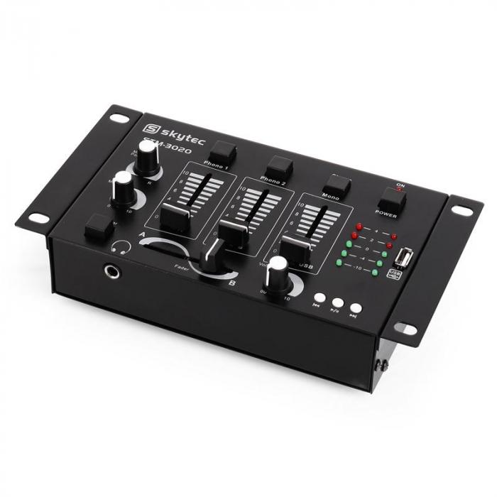 STM-3020 3/2 Channel Mixer USB MP3 MIC