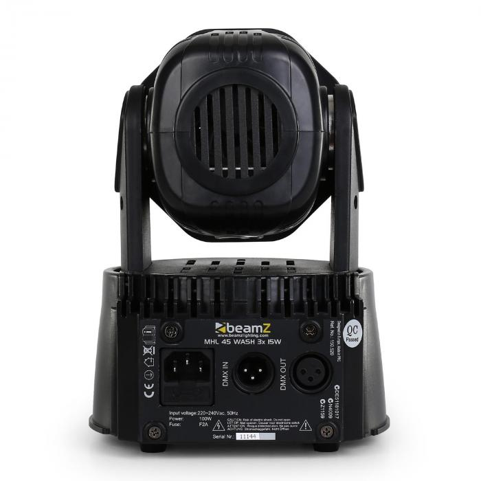 MHL-45 DMX, mini moving head, wash, 3 x 15 W, COB, LED DMX