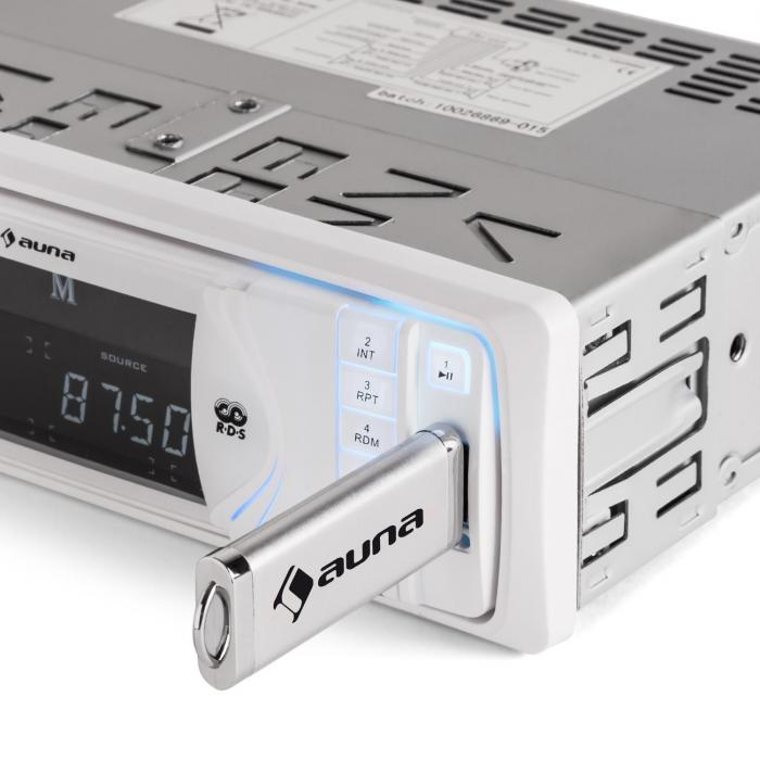 MD-130W, autoradio, Bluetooth, SD, USB, AUX, RDS