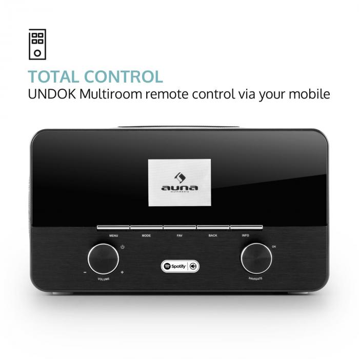 Connect 150 BK, 2.1 internetni radio z media playerjem, Wi Fi, LAN, USB, DA