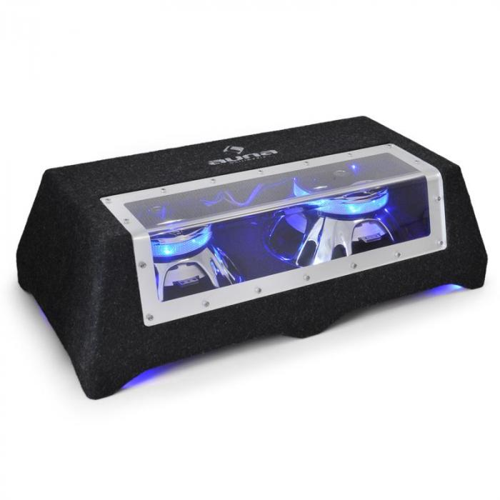 C8-Sub-2x12-LED, dvojitý subwoofer do auta