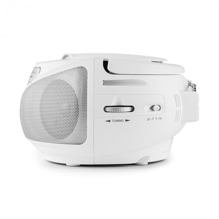 Groovie WH boombox, bluetooth, CD, FM, AUX, MP3, fehér