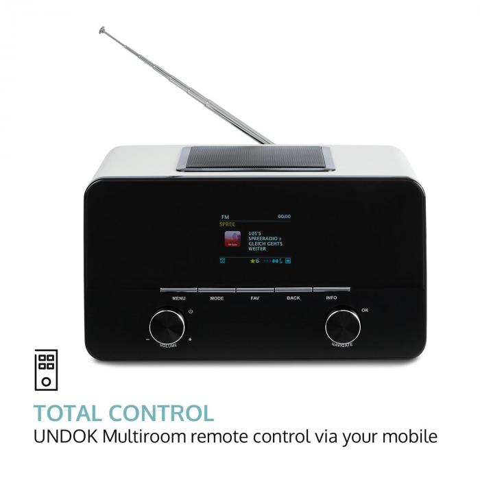 CONNECT 150 WH 2.1 INTERNETRADIO MEDIAPLAYER WIFI LAN USB DAB+ FM RDS AUX
