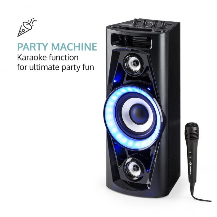 UltraSonic Pulse V6-40, аудио система, мобилен репродуктор, батерия, BT, USB, MP3, AUX, FM, вход за китара, LED, микрофон
