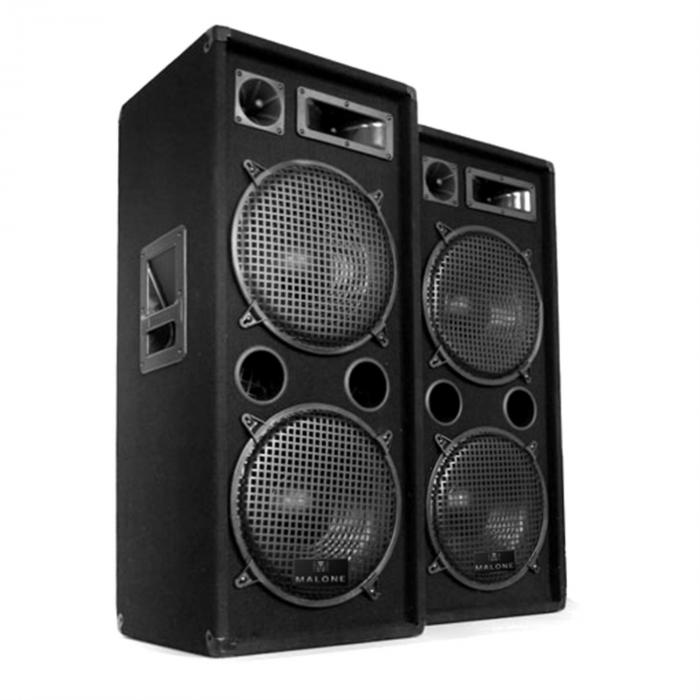 "DJ PA set ""DJ–27"", pojačalo, PA zvučnik, 2000W, USB, SD, MP3"