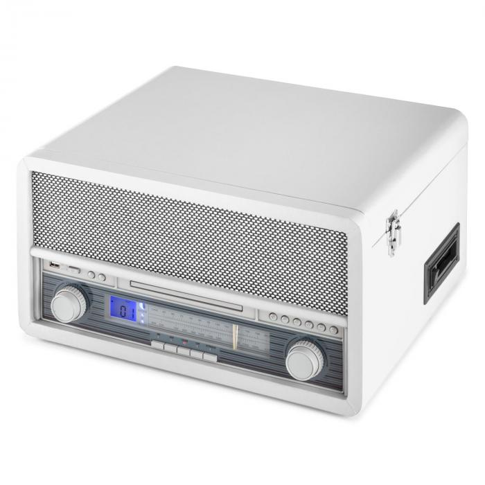 EPOQUE 1907, sistem audio retro, gramofon, casete, bluetooth, USB, CD, AUX