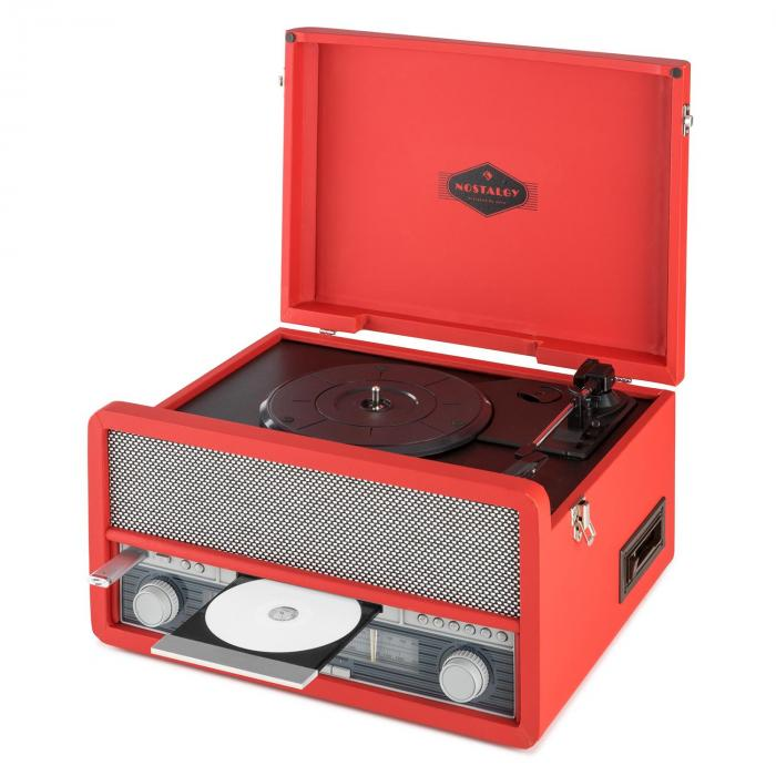 Epoque 1907, retro audio rendszer, gramofon, bluetooth, MC, USB, CD, AUX